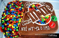 m & m cake!