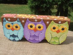 Painted Pavers HOOT Decorative Painting Pattern from Oil by OilCreekOriginals, 7.95