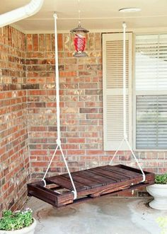 pallet swing, swing seat, hanging chairs, porch, swing chair