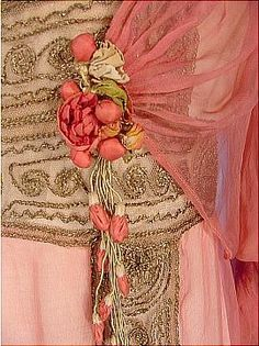 Detail of 1912...silk chiffon gown