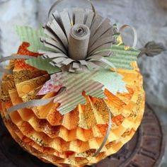 Paper Rosettes Tutorial | Rosette Pumpkin Tutorial {Paper Decoration}