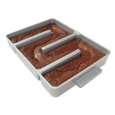 A all-edge brownie pan! So every brownie is a chewy brownie. product, baker edg, food, the edge, kitchen, browni pan, bakers, edg browni, thing