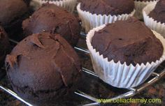 Chocolate Pumpkin Muffins made with a Gluten-Free Cake Mix