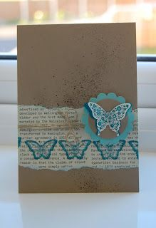 card share, butterfli, independ stampin, stack card
