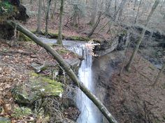 Waterfall in Tennessee that is on my best friend's horseback riding trail.