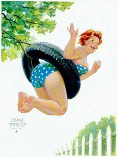 Hilda - s'amusent sur balançoire, sans les mains