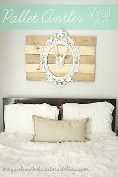 Pallet Antler Wall Art - Megan Brooke Handmade.
