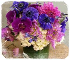 #madewithfaded #bellablooms #phalanopsisorchids #hydrangea #anemones #dahlias