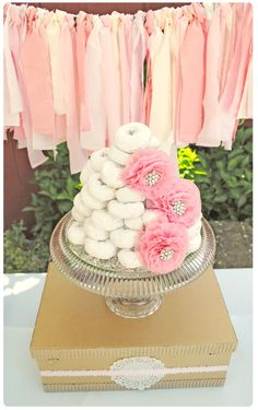 love the donut stack and the flowers!