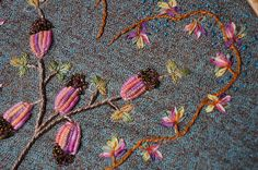 I ❤ beaded ribbon embroidery . . . My Heart ~By Veronique M