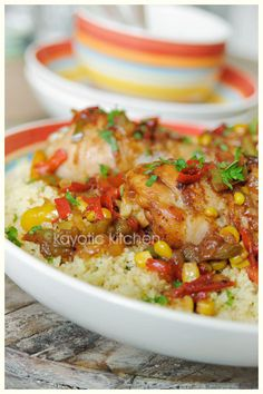kurczak z kuskusem i warzywami