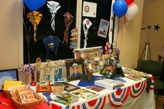 Display table for Eagle Scout Court of Honor.
