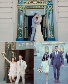 You've gotta love chic San Francisco city hall weddings.