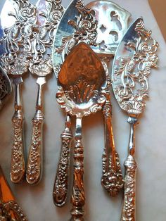Beautiful silver serving pieces The Enchanted Home