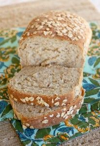 Multigrain Bread - Double recipe for Bosch and make 4 loaves!