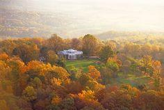 Monticello in the fall