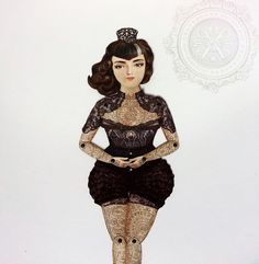 Victorian Tattooed Paper Doll Puppet  Dona Alicia A by crankbunny found at https://www.etsy.com/listing/195137570/victorian-tattooed-paper-doll-puppet?ref=sr_gallery_18&ga_search_query=doll+spain+-marin&ga_order=most_relevant&ga_page=2&ga_search_type=all&ga_view_type=gallery