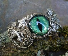 SOLD Gothic Steampunk Double Dragon Evil Eye by twistedsisterarts, $149.95