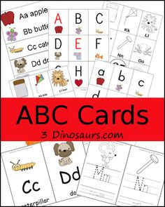 Collection of ABC & Number Cards - 3Dinosaurs.com