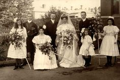 A wedding. Possibly in Essendon around 1910.