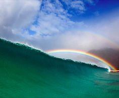 North Shore, HI by Freddy Booth aloha, surfs up, double rainbow, oahu hawaii, wave, north shore, ocean, beach, mother nature