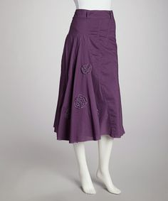 Take a look at this Purple Embroidered Skirt by Autumn Looks: Women's Apparel on @zulily today!