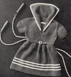 vintage pattern for crocheted baby dress