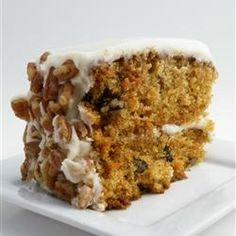 Carrot Cake - I've tried many carrot cakes, and this is my favorite recipe, The flavor was heavenly and I still had some left over. Everyone in the family gave rave reviews and had 2 pieces! The cake was gone by the next day
