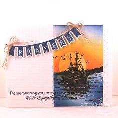 Stamps - Our Daily Bread Designs Pennant Swag 1, All Occasion Sentiments, The Waves on the Sea, ODBD Custom Pennant Swag Die
