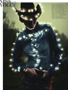 Electric Cowgirl.  Vogue Paris Feb 2012