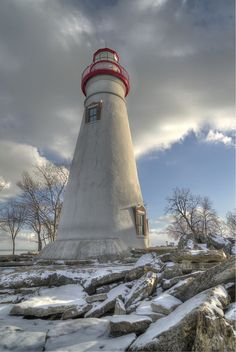 Marblehead Lighthouse in Marblehead Ohio