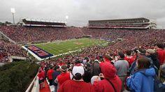 Ole Miss - University of Mississippi Rebels football - inside view of full Vaught Hemingway Stadium