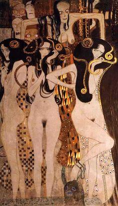 Gustav Klimt klimt 18621918, vienna, beethoven friez, gustav klimt, paint, 1902, gorgon, gustavklimt, art nouveau
