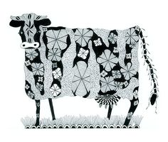 Cow Zentangle 8x10 Print https://www.etsy.com/your/listings?ref=si_your_shop