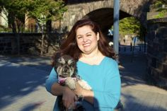 Here is NJ Assemblywoman Annette Quijano and a dog at a public event.   She represents portions of Union County. This is her second year serving as an Honorary Chair.