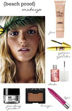 beach vacation makeup, makeup beach, beach vacation nails, beach make up, beach proof