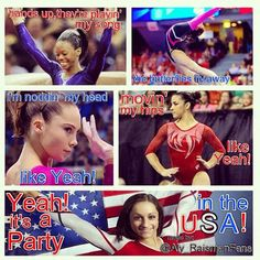 """It's a """"Party In The USA"""", Team USA style:)."""