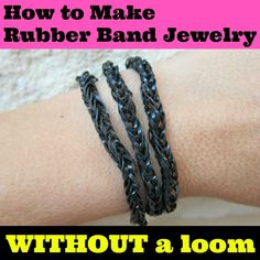 How to make rubber band jewelry - WITHOUT a loom!!