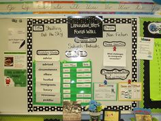 Reading street 5th grade focus wall (contains several other pictures of great ideas in the classroom too.)