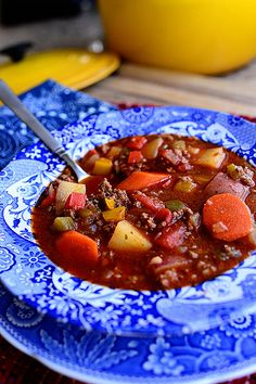 Hamburger Soup! Warms your heart and soul. Both kids and adults inhale it!