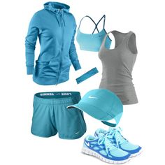 this cute outfit makes me want to workout!- NEED a sports bra and a light-weight jacket