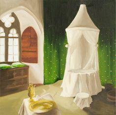 Original Oil Painting on Canvas  Chanbre de Retrait  98 by KicoART,
