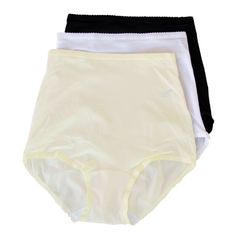 CLICK IMAGE TWICE FOR PRICING AND INFO :) #women #panties #lingerie #briefpanties #intimates #undergarment see more granny panties at http://zpanties.com/category/panties-categories/granny-panties/ - Shadowline Nylon Spandex Briefs, Panties, Style 17005 (Pkg of 3–White,Black,Ivory), L « Z Panties