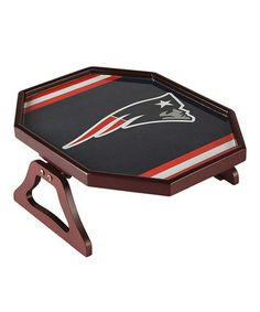 just bought this, my husband is going to love it! $19 New England Patriots Armchair Snack Tray by NFL Draft Day: Home & Garden on @zulily today!