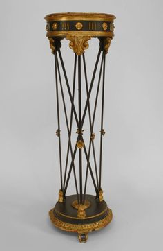 Italian Venetian misc. furniture pedestal painted