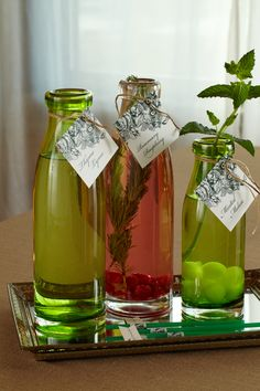 Naturally Flavored Water. Refresh baby shower guests with natural Thyme Lyme, Rosemary Raspberry and Minted Melon water.