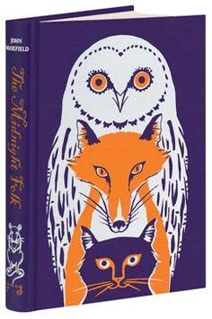 john masefield, folio societi, books, fox, worth read, book worth, owl, book covers, midnight folk
