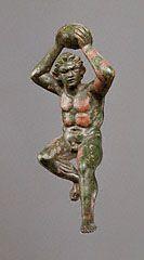 FOOTBALL. Statuette of a Giant, Greek, 200-175 B.C.