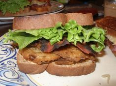 Fried Green Tomato BLT Sandwich Sounds interesting!... maybe the tomato would taste better