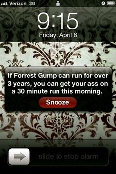 I need to put that on my alarm.